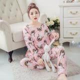 ขาย Clothes เซ็ตชุดนอนเสื้อ กางเกงลายการ์ตูนขายาว สีชมพู รุ่น 5025 Clothes Fashion ถูก