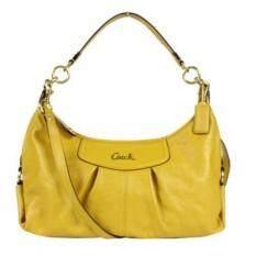 ราคา Coach 19761 Ashley Hobo Shoulder Bag Handbag Tote สีเหลือง ที่สุด