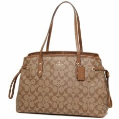 92969f0cf THB 4.590. COACH กระเป๋า DRAWSTRING CARRYALL IN SIGNATURE COATED CANVAS  F57842THB4590
