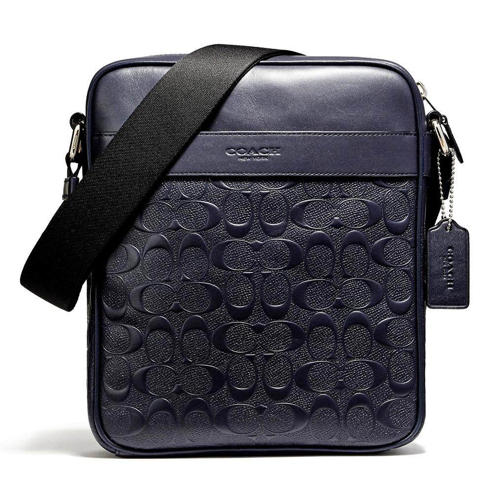 กระเป๋า COACH F11741 CHARLES FLIGHT BAG IN SIGNATURE CROSSGRAIN LEATHER  (NIMID)