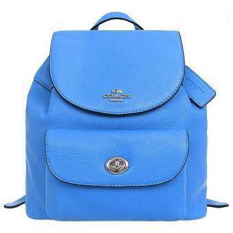 COACH F37621 MINI BILLIE BACKPACK IN PEBBLE LEATHER (AZURE)