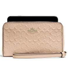 ส่วนลด กระเป๋า Coach F57469 Phone Wallet In Signature Debossed Patent Leather Imlh4 Coach กรุงเทพมหานคร