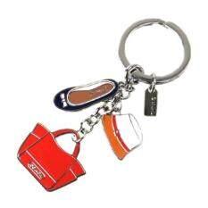 ราคา Coach Hat Shoe Tote Key Chain Multicolor เป็นต้นฉบับ Coach