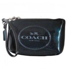 ขาย Coach Horse And Carriage Patent Leather Medium Wristlet รุ่น 52145 Black Coach ใน ปทุมธานี