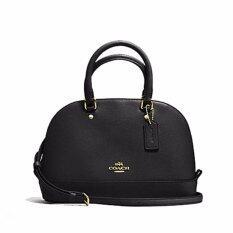 ความคิดเห็น Coach กระเป๋า Mini Sierra Satchel In Crossgrain Leather F57555 Imblk Im Black