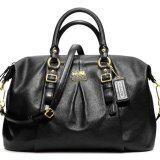 ขาย ซื้อ Coach กระเป๋าสะพายมีหูหิ้วสำหรับผู้หญิง รุ่น 21222 สีดำ ใน ปทุมธานี