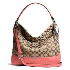ขาย Coach กระเป๋าสะพายมีหูหิ้วสำหรับผู้หญิง รุ่น 23279 สีชากุหลาบ ออนไลน์ ใน ปทุมธานี