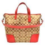 ขาย Coach กระเป๋าสะพายมีหูหิ้วสำหรับผู้หญิง รุ่น 28981 สีกากี แดง ราคาถูกที่สุด