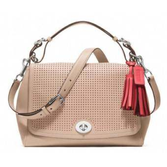 Coach Legacy Leather ROMY Satchel Crossbody Shoulder Bag Handbag  รุ่น 22386 - Tan
