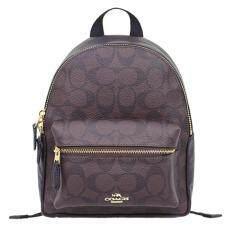 ขาย Coach กระเป๋าเป้ Mini Charlie Backpack In Signature Coated Canvas F58315 Imaa8 Im Brown Black ไทย