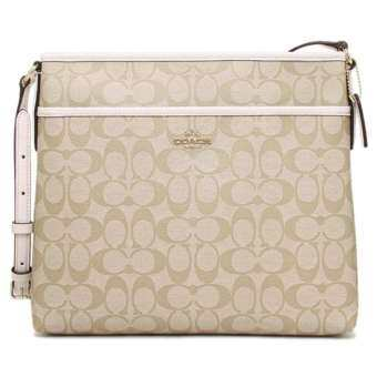 COACH Signature Peyton File Bag Crossbody Bag 34938 Chalk
