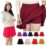 ซื้อ กระโปรงสั้น ซับกางเกง Colorful Pleated Skirt สีเมรอนเรด ออนไลน์ กรุงเทพมหานคร
