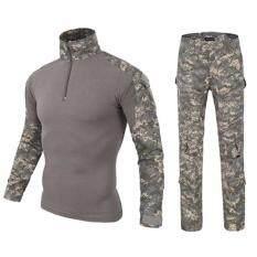 ส่วนลด ชุดเสื้อและกางเกงขายาวผู้ชาย Combat Shirt คอมแบททหาร สำหรับขาลุย กิจกรรมล่าสัตว์ หรือบอลกีฬา แนวArmy ลายพรางดิจิตอล Unbranded Generic