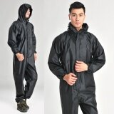 Conjoined Raincoats Overalls Electric Motorcycle Fashion Raincoat Men And Women Fission Rain Suit Black Intl ถูก