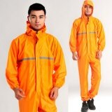 ขาย Conjoined Raincoats Overalls Electric Motorcycle Fashion Raincoat Men And Women Fission Rain Suit Orange Intl จีน ถูก