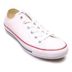 ขาย Converse รองเท้าผ้าใบ ผู้ชาย ผู้หญิง รุ่น All Star Leather Ox White 12100B804Ww White ออนไลน์