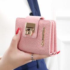 ราคา Kqueenstar กระเป๋าเงินสั้นผู้หญิง แนวตั้ง สไตล์ผู้หญิงญี่ปุ่นและเกาหลี จระเข้ สีชมพู จระเข้ สีชมพู เป็นต้นฉบับ