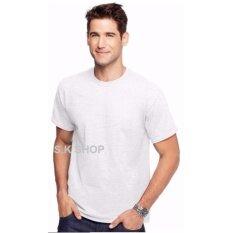 ขาย ซื้อ เสื้อยืด ผ้าฝ้าย Cotton 100 เสื้อสีขาว