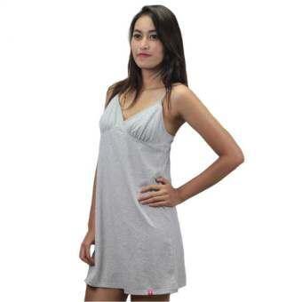 Rika ชุดนอน ผู้ญิง กระโปรงสั้นเหนือเข่า ผ้าคอตตอน Super Soft Topdye ที่นุ่มมาก สวมใส่สบาย ชุดนอน เซ็กซี่  สลิป EN3027