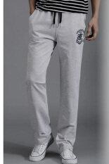 ซื้อ กางเกงลำลองผ้าฝ้ายกับกางเกงกีฬาบางคนกางเกงฮาเร็มดินสอ สีเทา ออนไลน์