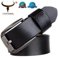 ส่วนลด Cowather เข็มขัดผู้ชายเข็มขัดหนังวัวแท้ครอฟท์เข็มขัดแฟชั่นชายหนังแท้คุณภาพดีเยี่ยม Cowather จีน