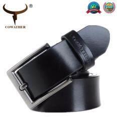 ขาย Cowather 2018 เข็มขัดหนังวัวแท้รูปแบบเดิมๆสำหรับผู้ชายเข็มกลัดเข็มขัดแบบคลาสสิก จีน ถูก