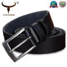 ราคา Cowather 2018 เข็มขัดผู้ชายเข็มขัดแฟชั่นหนังวัวผู้ชายเข็มขัดเข็มขัดออกแบบลำลองสายรัดเอว Cowather