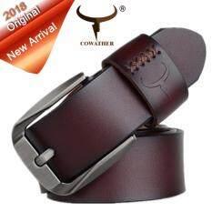 Cowather เข็มขัดผู้ชาย เข็มขัด เข็มขัดหนังวัวแท้ 100% ผู้ชาย เข็มขัดหนัง เข็มขัดนิรภัยเข็มขัดนิรภัยแบบเดี่ยว Waist Belt Mens Pin Buckle Belts By Eagowee Store.