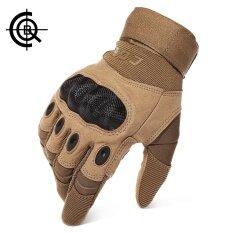 Cqb เกี่ยวกับยุทธวิธีกลางแจ้งเต็มนิ้วถุงมือกีฬาถุงมือขี่ถุงมือผู้ชายถุงมือทหารทหารป้องกันเปลือกป้องกัน (สีน้ำตาล) - นานาชาติ.
