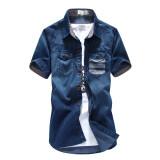 ขาย Chao Ren Chao Pin เสื้อเซิ้ตยีนส์แขนสั้น วินเทจ C18 ยีนส์สั้นสีน้ำเงินเข้ม C18 ยีนส์สั้นสีน้ำเงินเข้ม Unbranded Generic