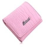 ราคา Crocodile Women Short Horizontal Cash Photo Holder Card Wallet Pink ถูก