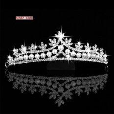 ขาย Crown Hoop Bridal Austrian Crystal Hair Tiara Wedding Tiara Ladies Crown Pearl Hair Hoop Intl ใหม่