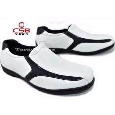 ซื้อ Csb รองเท้าคัทชูชาย Csb รุ่น Cm327 สีขาว ดำ Csb ออนไลน์