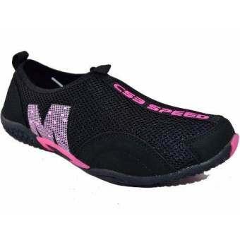CSB  รองเท้าผ้าใบแบบสวม ผู้หญิง CSB รุ่น FX8904 (สีดำ)
