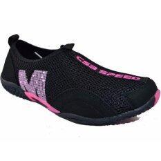 ขาย ซื้อ Csb รองเท้าผ้าใบแบบสวม ผู้หญิง Csb รุ่น Fx8904 สีดำ