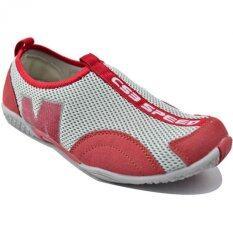 ซื้อ Csb รองเท้าผ้าใบแบบสวม ผู้หญิง Csb รุ่น Fx8904 สีเทา แดง ใหม่ล่าสุด