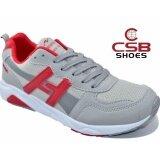 ราคา Csb รองเท้าผ้าใบผู้ชาย Csb รุ่น Ln90063 สีเทา ถูก