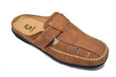 ราคา Csb รองเท้าหนังแบบสวมเปิดส้น ผู้ชาย Csb รุ่น Cm415 สีแทน เป็นต้นฉบับ Csb