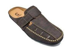 ซื้อ Csb รองเท้าหนังแบบสวมเปิดส้น ผู้ชาย Csb รุ่น Cm415 สีกาแฟ Csb ถูก