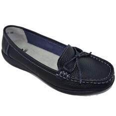 ขาย ซื้อ Csb รองเท้าคัทชูหนังแท้ผู้หญิง Csb รุ่น Bg615 สีดำล้วน