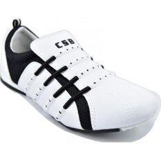 ขาย Csb รองเท้าผ้าใบแบบสวม ผู้หญิง Csb รุ่น T2161 สีขาวดำ