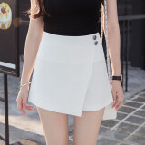 ส่วนลด เกาหลีหญิงใหม่เอวสูง Culottes กางเกงขาสั้น สีขาว ฮ่องกง
