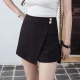 โปรโมชั่น เกาหลีหญิงใหม่เอวสูง Culottes กางเกงขาสั้น สีดำ Unbranded Generic