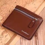 ทบทวน Curewe Kerien กระเป๋าสตางค์ ผู้ชาย กระเป๋าเงิน กระเป๋าตัง บาง ทรงสั้น Wallet Mens Luxury Leather Credit Id Card Holder Baellerry Billfold Coin Purse Brown