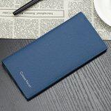 ทบทวน Curewe Kerien กระเป๋าสตางค์ ผู้ชาย กระเป๋าเงิน กระเป๋าตัง บาง ทรงยาว Men Wallet Business Style Long Pattern Pu Leather Wallet For Men Blue