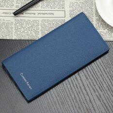ขาย Curewe Kerien กระเป๋าสตางค์ ผู้ชาย กระเป๋าเงิน กระเป๋าตัง บาง ทรงยาว Men Wallet Business Style Long Pattern Pu Leather Wallet For Men Blue ถูก