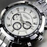 Curren Round Dial Men S Silver Alloy Strap Watch 8084 ใหม่ล่าสุด