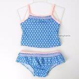 ส่วนลด Cute Baby G*rl Swimwear Two Pieces Blue Geometric Floral Pattern 2 6Y Girls Swimsuit Kid Children Swimming Suit Sw0636 Intl