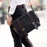 ซื้อ Allday Cv13 Black กระเป๋าสะพายข้าง ผ้าแคนวาส สีดำ กระเป๋าผู้ชาย Allday
