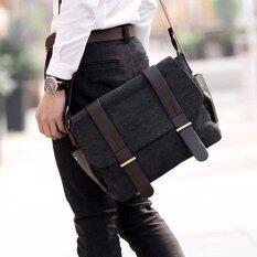 โปรโมชั่น Allday Cv13 Black กระเป๋าสะพายข้าง ผ้าแคนวาส สีดำ กระเป๋าผู้ชาย Allday